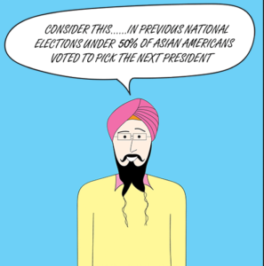 Capt Sikh America encourages Asian Americans to vote
