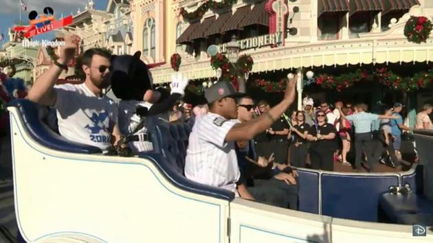 Addison Russell goes to Disneyland