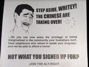 Vancouver Racist flyer