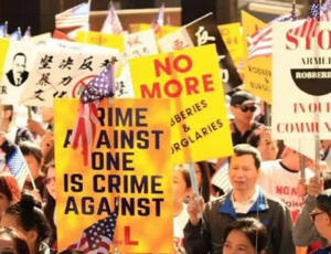 Philadelphia protest against crimes targeting Asian Americans