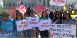 Immigrant rights protest by AAPI Students